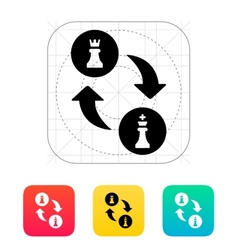 Chess castling icon vector image