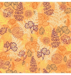 Desert flowers and leaves seamless pattern vector image