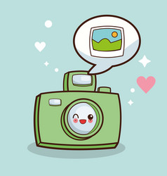 kawaii camera picture photo vector image