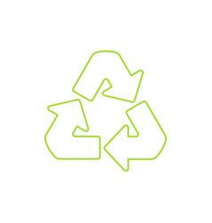 Recycle symbol linear icon vector