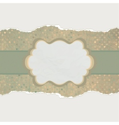 Vintage card with space for text EPS 8 vector image vector image