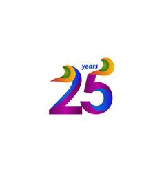 25 years anniversary celebration elegant blue vector