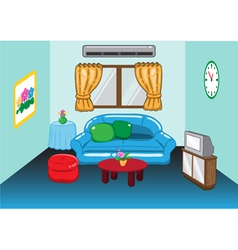a living room vector image