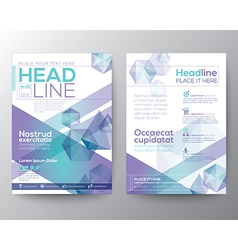 Abstract polygon brochure flyer template layout vector