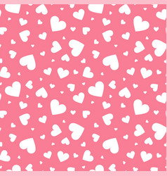 abstract seamless geometric pattern with hearts in vector image