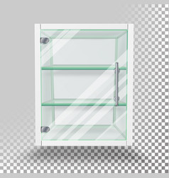 advertising glass cabinet empty stand vector image