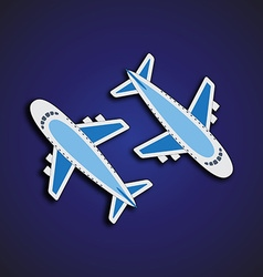 Airplanes from the top vector image