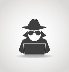 Anonymous Computer Icon vector image vector image