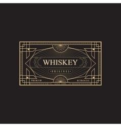 Antique frame vintage border whiskey label retro vector