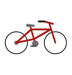 bike or bicycle icon image vector image