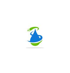 bio droplet water logo vector image
