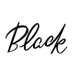 black hand drawn lettering isolated vector image
