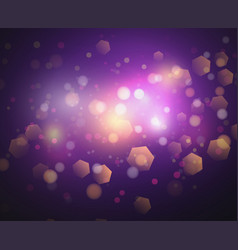 bokeh lights and glitter background vector image