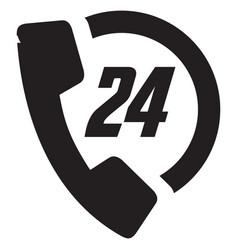 Call 24 icon vector