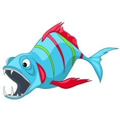 cartoon character fish vector image