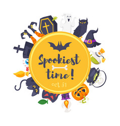 cartoon style web halloween banner vector image
