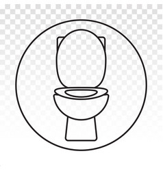 Closet toilet seat line art icon for apps vector