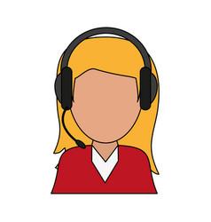 Color image cartoon half body female customer vector
