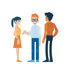 conversing people in flat vector image