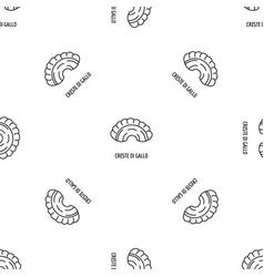 Creste di gallo pattern seamless vector