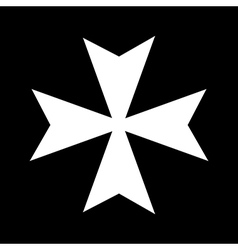 Cross of the Knights Hospitaller vector image
