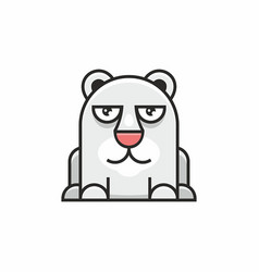 cute polar bear icon on white background vector image