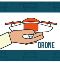 Drone technology futuristic vector