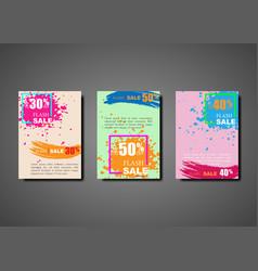 dynamic modern splash brochures for flash sale vector image