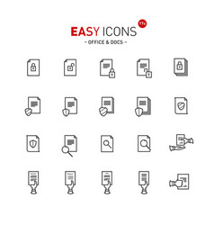 Easy icons 17a docs vector
