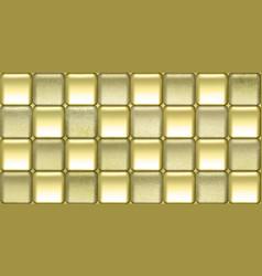 elegant wallpaper with amazing golden tiles vector image