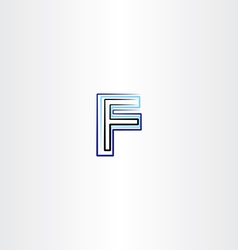 F letter logo symbol blue black icon vector