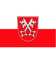 Flag of regensburg in upper palatinate in bavaria vector