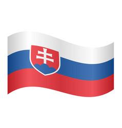 flag of slovakia waving on white background vector image
