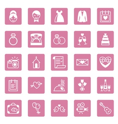 Flat square icons wedding vector image