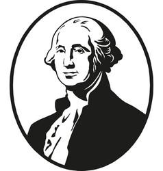 george washington first president united vector image