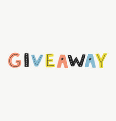 Giveaway banner template vector