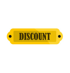 golden discount label icon flat style vector image