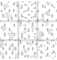 Hand-drawn pattern Scandinavian vector