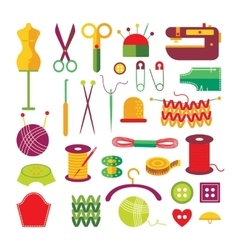 Handmade Colorful Icons Set vector image