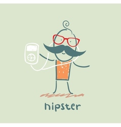 hipster vector image vector image