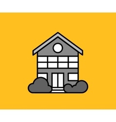 House Icon on Yellow vector image