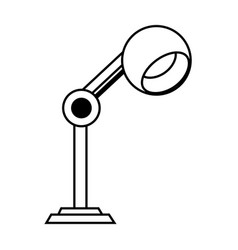 lamp office silhouette vector image