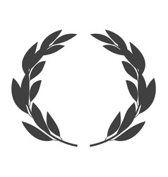 laurel wreath icon placed on white vector image