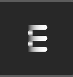 Letter e logo initial 3d monogram minimal style vector