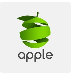 Logo green apple vector