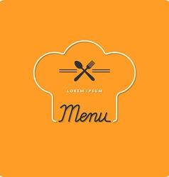 Logo restaurant menus vector image