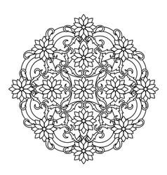 mandala ethnic religious design vector image vector image