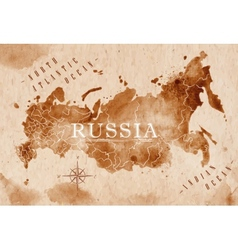 Map Russia retro vector image