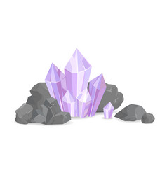 natural resources and minerals vector image
