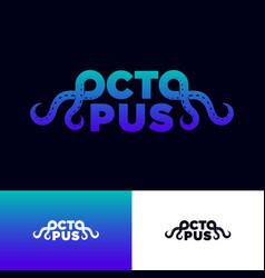 octopus logo seafood restaurant tentacles vector image